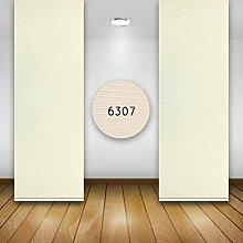 Flächenvorhänge Schiebegardine Vorhang in vielen Farben B 50 cm H260 cm, 6307 creme/weiß