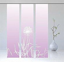 Flächenvorhang Allium flieder, Modernes Schiebevorhang Set, - 3er - Serie, Set 3tlg, Höhe 2,45 m