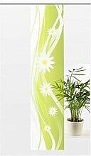 Flächenvorhang Flower Modern - Voile feingewebt - transparente Schiebegardine Gr.60x245 cm