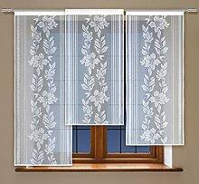 Flächenvorhang kurz, Panel kurz, Schiebevorhang kurz, mit Tunneldurchzug Gardine, Vorhang (160 x 60 cm)
