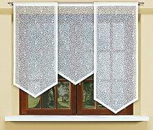 Flächenvorhang kurz, Panel kurz, Schiebevorhang kurz, mit Tunneldurchzug Gardine, Vorhang (140 x 60 cm)