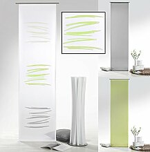 Flächenvorhang mit Farbverlauf in grün grau Abstrakt inkl. Zubehör HxB 245x60 cm - Schiebegardine halbtransparent Modern Chic Gardine Typ415