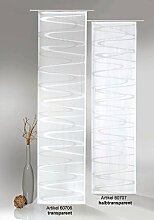 Flächenvorhang Modern Wave inkl. Universal-Zubehör HxB 245x60 cm in taupe braun transparent - Schiebegardine Web-Scherli Welle Gardine Typ413