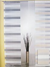 Flächenvorhang - Schiebevorhang Natur-Grau ca.60 x 245 cm, halbtransparent (1Stück)