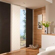 Flächenvorhang, Schiebevorhang weiß, transparent | Dekor Ausbrenner | B 60 x H 245 cm