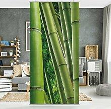 Flächenvorhang Set Bamboo Trees No.2 Wald Bambus Asien Natur Pflanzen 250x120cm | Schiebegardine Schiebevorhang Raumtrenner Vorhang Raumteiler Gardine Paravent Wandbild XXL Deko Dekor Größe: 250 x 120cm inkl. transparenter Halterung