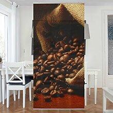 Flächenvorhang Set Dulcet Coffee 250x120cm | Schiebegardine Schiebevorhang Raumtrenner Vorhang Raumteiler Gardine Paravent Wandbild XXL Deko Dekor | Größe HxB: 250x120cm ohne Halterung