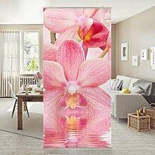 Flächenvorhang Set Rosa Orchideen auf Wasser