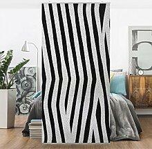 Flächenvorhang Set Zebra 250x120cm | Schiebegardine Schiebevorhang Raumtrenner Vorhang Raumteiler Gardine Paravent Wandbild XXL Deko Dekor | Größe HxB: 250x120cm ohne Halterung
