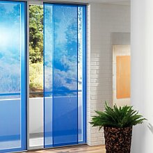 Flächenvorhang Stoff Polyester, Schiebevorhang blau