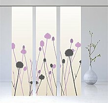 Flächenvorhang Thistle flieder black 3er, Modernes Schiebevorhang Set, - 3er - Serie, Set 3tlg, Höhe 2,45 m