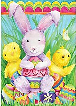 Flag. Ostern Hase Friends
