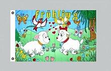 Flagge 90 x 150 : Frühling