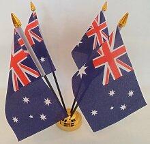 Flagge Australien Arbeitsfläche 4 Tisch mit