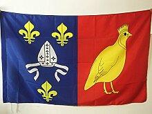 FLAGGE DÉPARTEMENT CHARENTE MARITIME 90x60cm - CHARENTE MARITIME FAHNE 60 x 90 cm scheide für Mast - flaggen AZ FLAG Top Qualitä