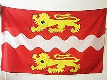 FLAGGE DÉPARTEMENT SEINE MARITIME 150x90cm - SEINE MARITIME FAHNE 90 x 150 cm scheide für Mast - flaggen AZ FLAG Top Qualitä
