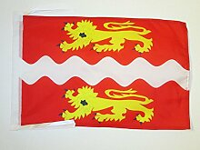 FLAGGE DÉPARTEMENT SEINE MARITIME 45x30cm mit kordel - SEINE MARITIME FAHNE 30 x 45 cm - flaggen AZ FLAG Top Qualitä