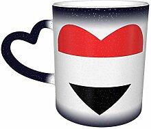 Flagge des Jemen Herz Farbe Ändern Sternenhimmel