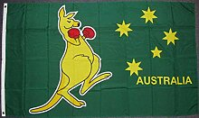 Flagge Fahne Australien mit Känguruh, ca. 90 x