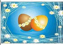 Flagge Fahne Kleinflagge Eier auf Blau - 40 x 60cm