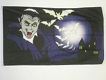 FLAGGE HALLOWEEN MIT FLEDERMAUS 150x90cm - HALLOWEENFEST FAHNE 90 x 150 cm - flaggen AZ FLAG Top Qualitä