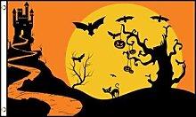 Flagge Happy Halloween Nuit de Terror 150x 90cm–Flagge Halloween-Party 90x 150cm–Flaggen–AZ Flag