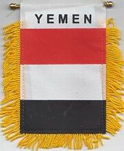 Flagge Jemen Auto, Fenster, Partydekoration Zum