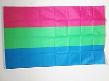 FLAGGE POLYSEXUALITÄT 150x90cm - POLYSEXUELL FAHNE 90 x 150 cm - flaggen AZ FLAG Top Qualitä
