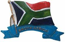 Flagge Südafrika Kühlschrankmagnet 3D Harz