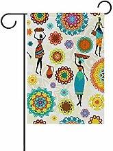 Flagge Vintage Böhmische Stammesfrauen Mandala