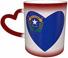 Flagge von Nevada Herz Farbe ändern Sternenhimmel