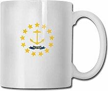 Flagge von Rhode Island Fashion Coffee Cup