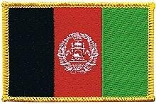 Flaggen Aufnäher Afghanistan Fahne Patch + gratis Aufkleber, Flaggenfritze®