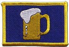 Flaggen Aufnäher Bier Fahne Patch + gratis Aufkleber, Flaggenfritze®