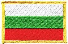 Flaggen Aufnäher Bulgarien Fahne Patch + gratis Aufkleber, Flaggenfritze®