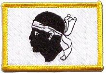 Flaggen Aufnäher Frankreich Korsika Fahne Patch + gratis Aufkleber, Flaggenfritze®