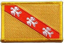 Flaggen Aufnäher Frankreich Lothringen Fahne Patch + gratis Aufkleber, Flaggenfritze®