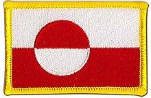 Flaggen Aufnäher Grönland Fahne Patch + gratis Aufkleber, Flaggenfritze®