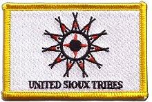 Flaggen Aufnäher Indianer United Sioux Fahne Patch + gratis Aufkleber, Flaggenfritze®