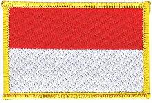 Flaggen Aufnäher Indonesien Fahne Patch + gratis Aufkleber, Flaggenfritze®