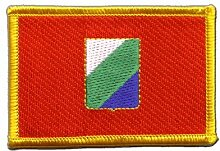 Flaggen Aufnäher Italien Abruzzen Fahne Patch + gratis Aufkleber, Flaggenfritze®