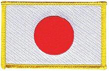Flaggen Aufnäher Japan Fahne Patch + gratis Aufkleber, Flaggenfritze®