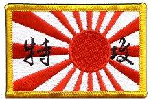 Flaggen Aufnäher Japan Kamikaze Fahne Patch + gratis Aufkleber, Flaggenfritze®