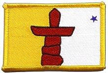 Flaggen Aufnäher Kanada Nunavut Fahne Patch + gratis Aufkleber, Flaggenfritze®