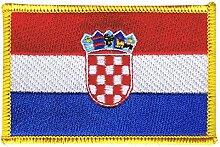 Flaggen Aufnäher Kroatien Fahne Patch + gratis Aufkleber, Flaggenfritze®