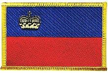 Flaggen Aufnäher Liechtenstein Fahne Patch + gratis Aufkleber, Flaggenfritze®