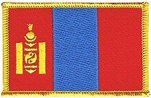 Flaggen Aufnäher Mongolei Fahne Patch + gratis Aufkleber, Flaggenfritze®