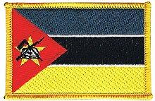 Flaggen Aufnäher Mosambik Fahne Patch + gratis Aufkleber, Flaggenfritze®