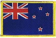 Flaggen Aufnäher Neuseeland Fahne Patch + gratis Aufkleber, Flaggenfritze®