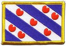 Flaggen Aufnäher Niederlande Friesland Fahne Patch + gratis Aufkleber, Flaggenfritze®